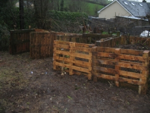 New compost area