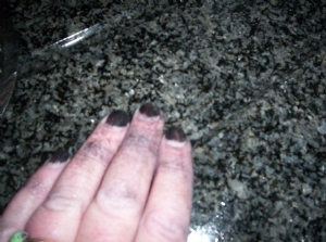 Beware - black nails