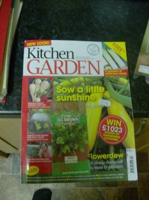Kitchen Garden reading picked up today,