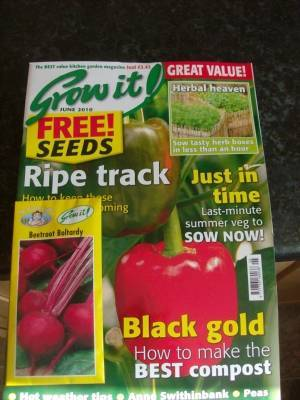 A Sunday suprise for me.The Grow it mag.