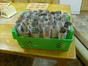 Paper pots.