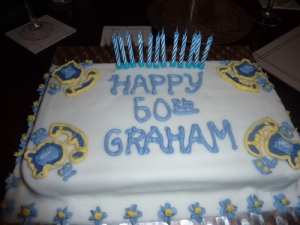 Grahams birthday cake .. big Everton fan