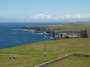 View from top of the lighthouse in loop head Co Clare