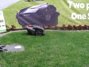Lawn mower versus scissors