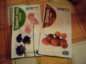 Tomato and Sweetpea