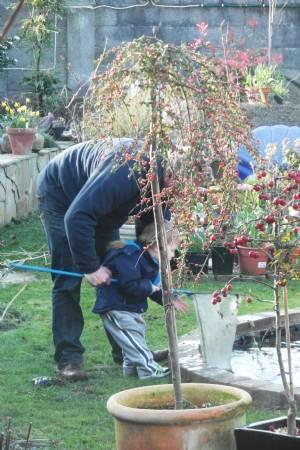 Babysitting in the garden