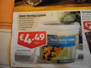 Water Storage Crystals