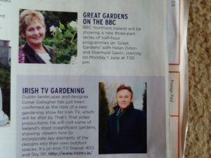 New Television  Gardening Programmes.