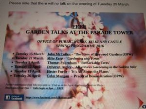 Kilkenny Caslte Talks.