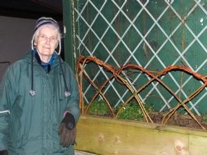 Mock-up of Elizabeth's fence