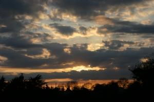 Sunset tonight in Dromin