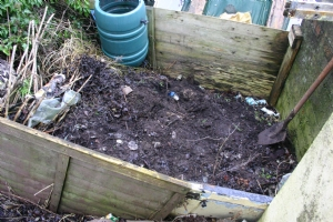 Natural compost heap