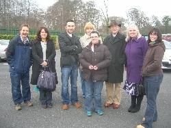 HeadGardener, UnaGrant, Bruno, Liga, Paddy & Mary (Gracedieu), LindaB and Hosta (front)