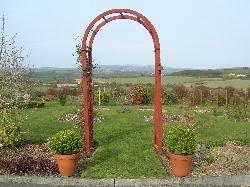 entrance to former rose garden